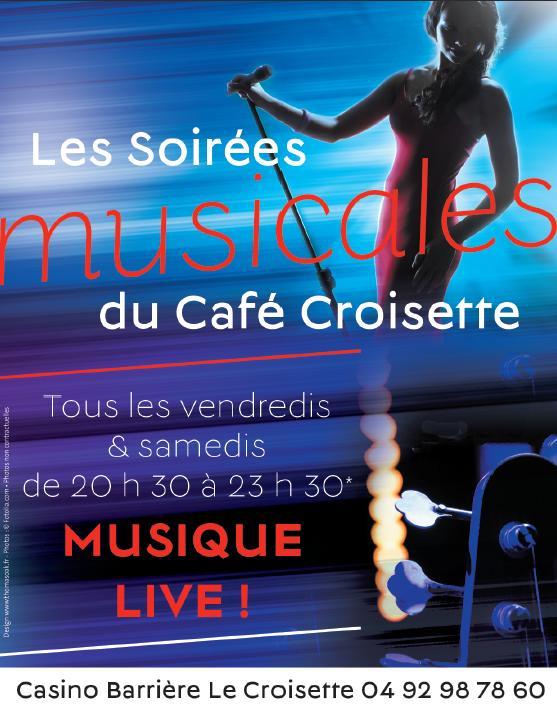 SOIRÉES MUSICALES DU CAFÉ CROISETTE CANNES