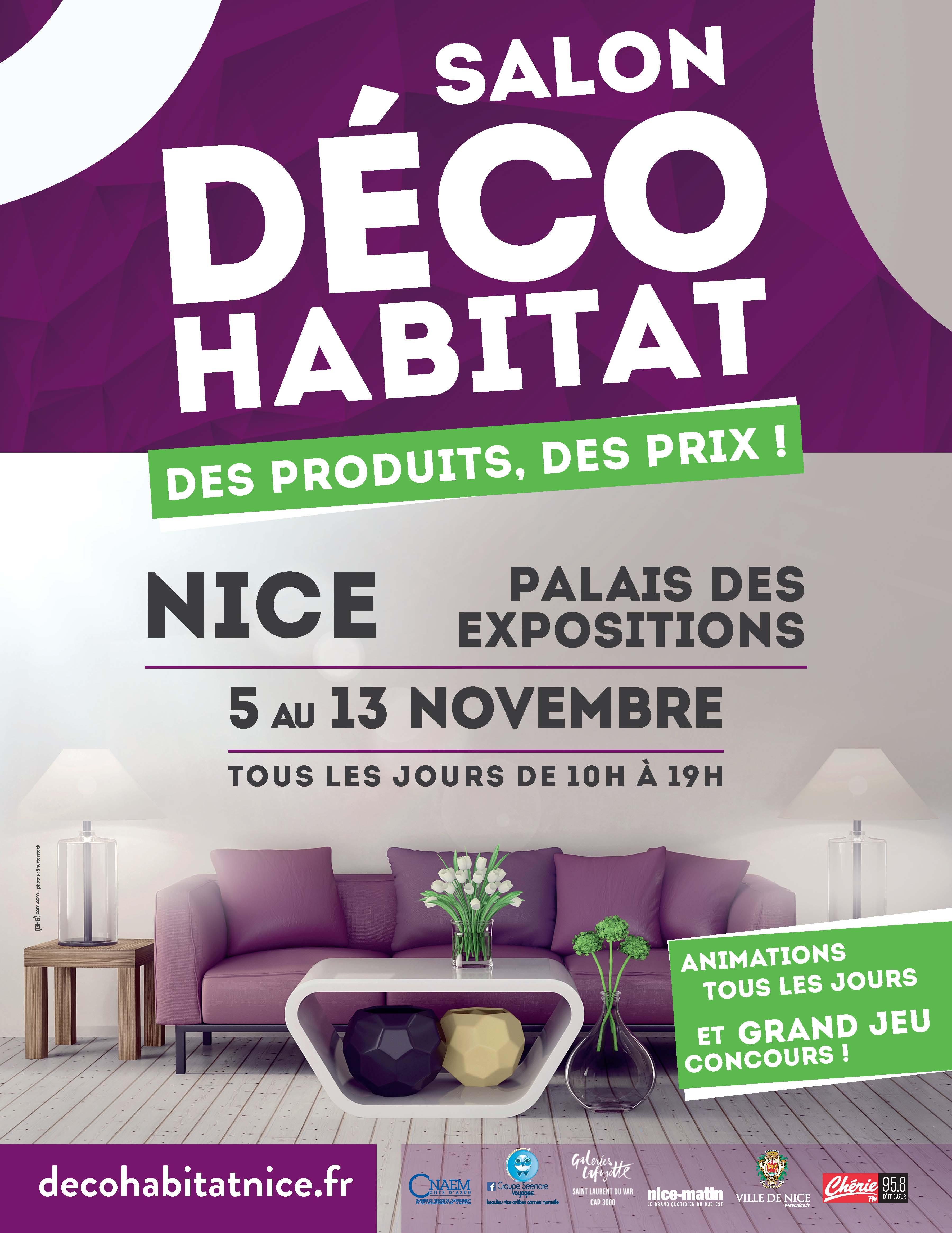 Salon dco habitat de nice nice actualit salon for Salon de the nice