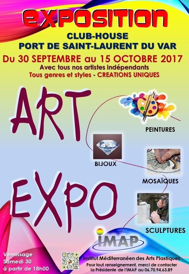 EXPOSITION D'ARTISTES CONTEMPORAINS DE L'IMAP : INSTITUT MÉDITERRANÉEN DES ARTS PLASTIQUES - SAISON 2017 SAINT LAURENT DU VAR