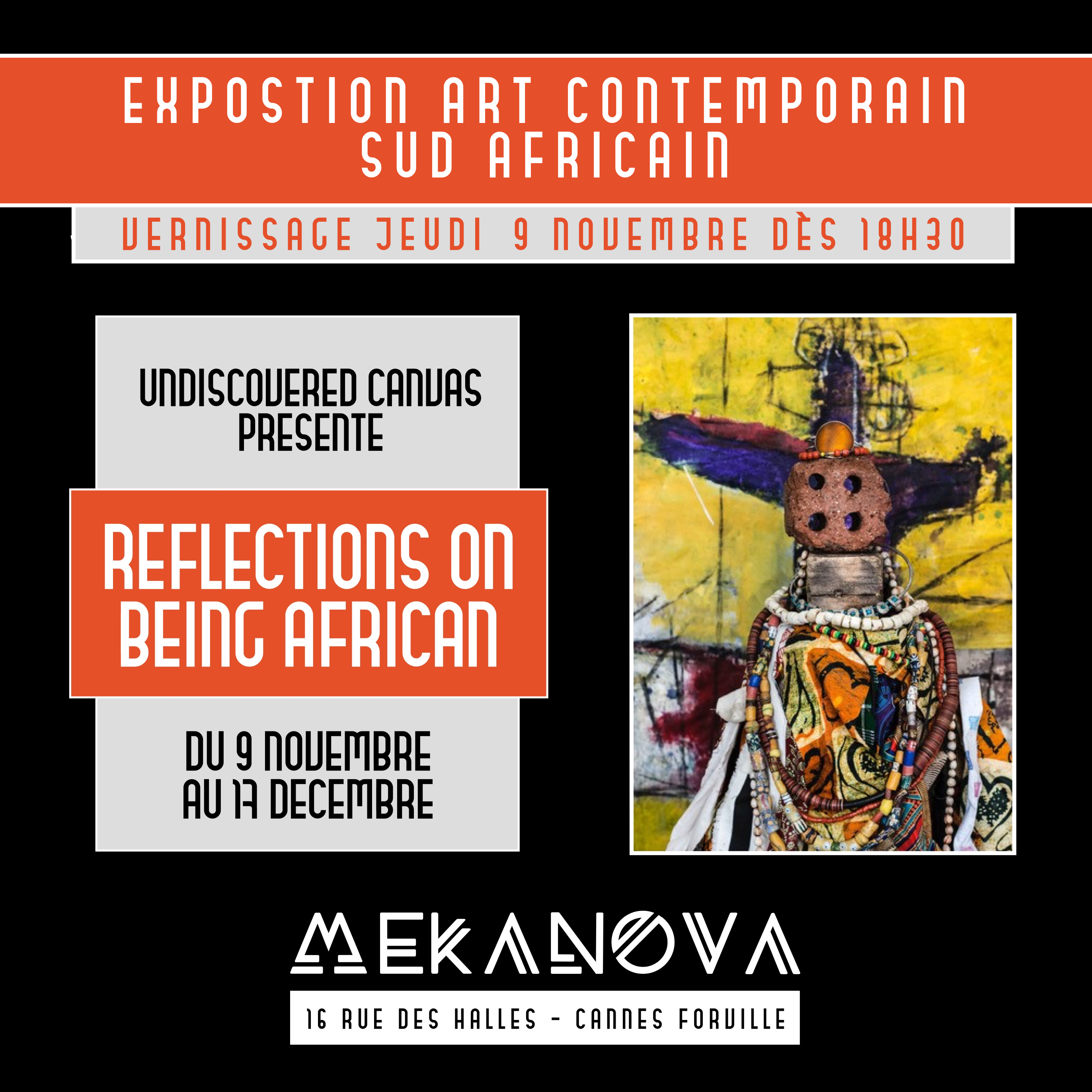 VERNISSAGE ART CONTEMPORAIN SUD AFRICAIN CANNES