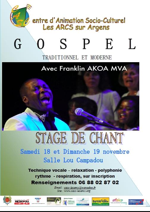 STAGE DE GOSPEL LES ARCS