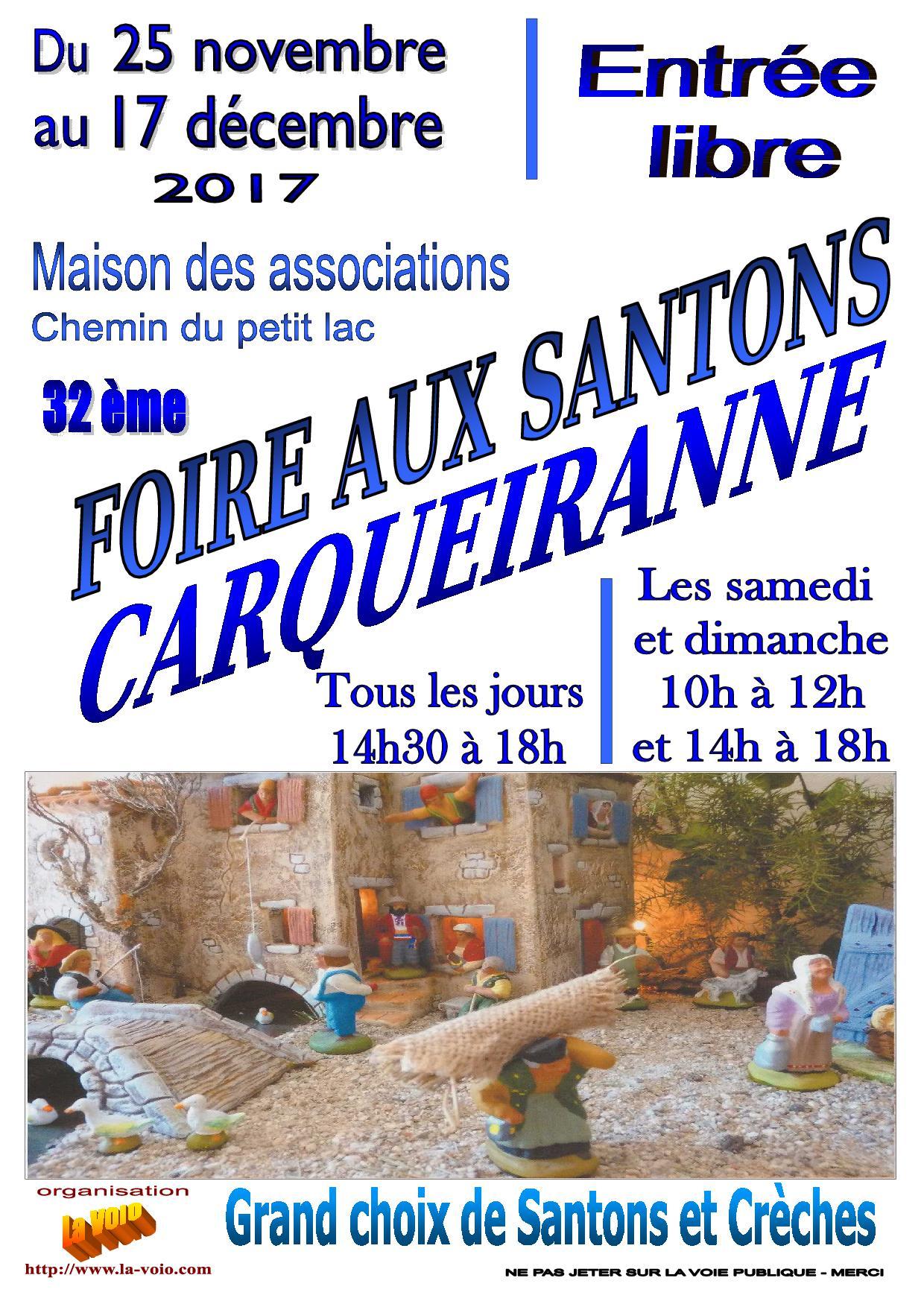 FOIRE AUX SANTONS CARQUEIRANNE
