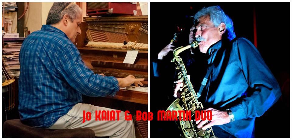 BOB MARTIN (ALTO SAX) & JO KAIAT (PIANO) NICE