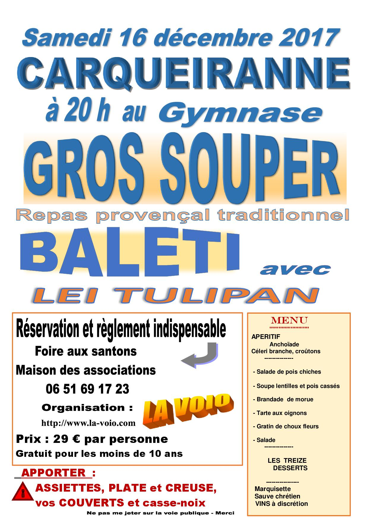 GROS SOUPER TRADITIONNEL CARQUEIRANNE