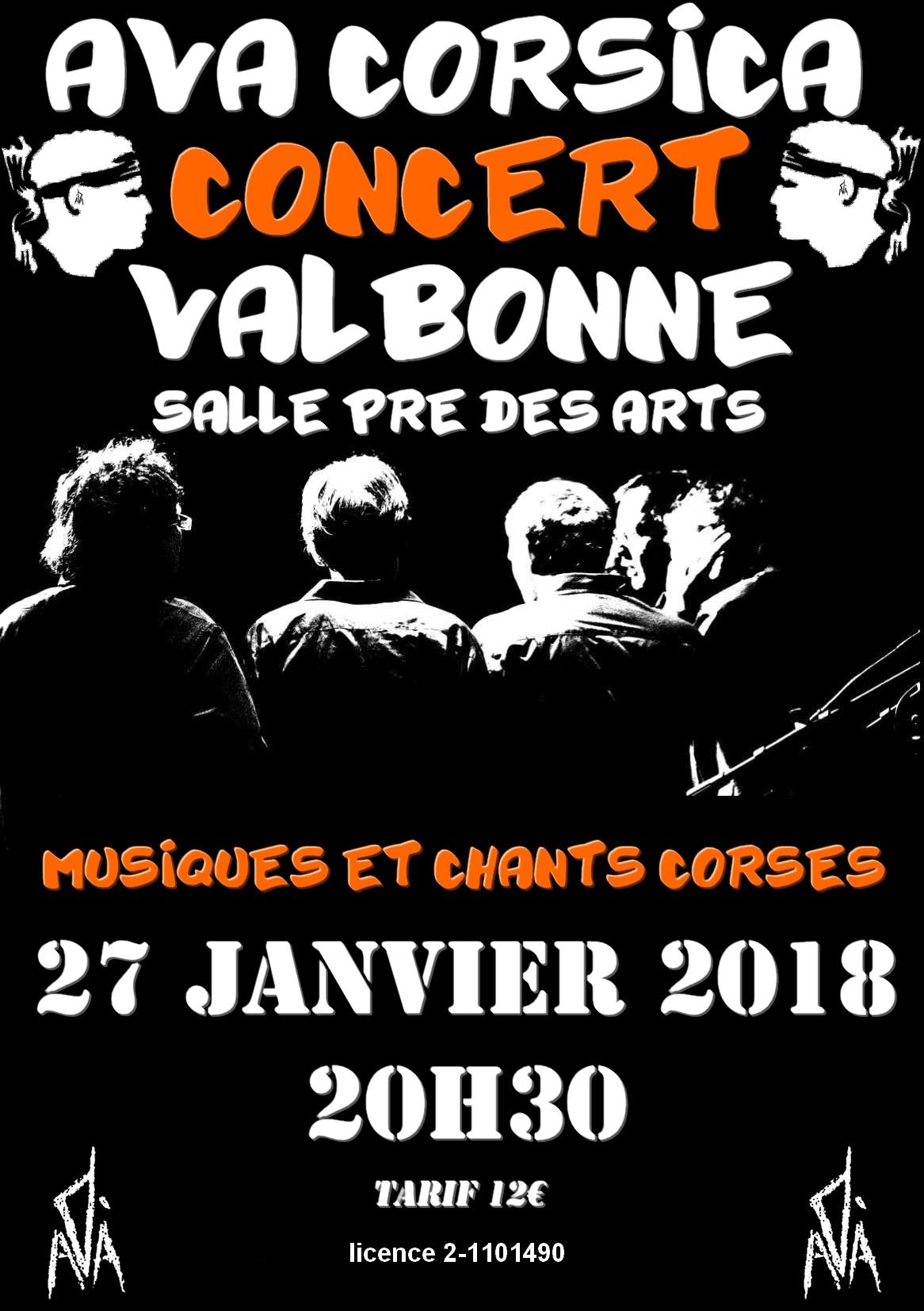 concert de musiques et chants corses  Actualité Valbonne