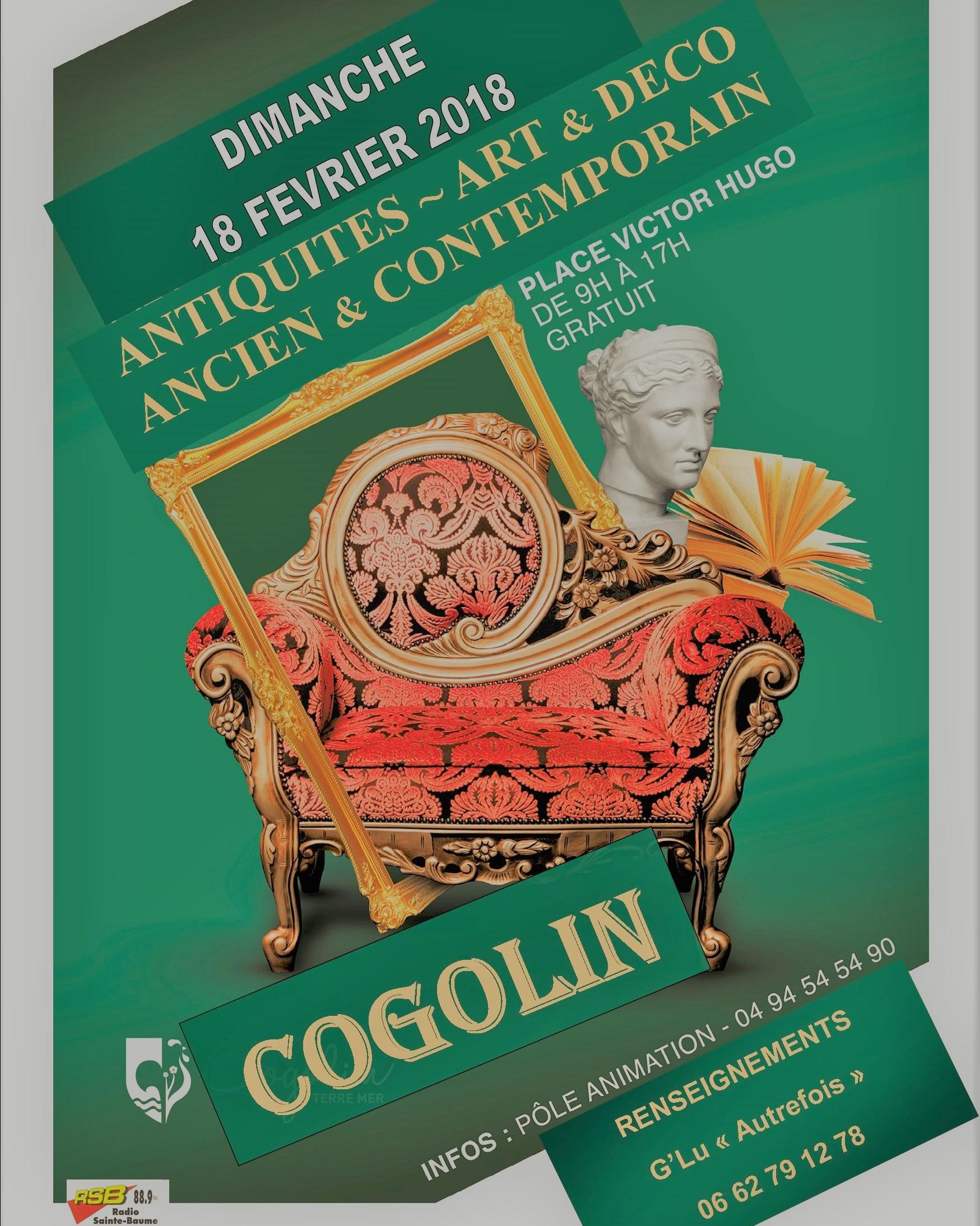 Salon antiquites art deco ancien et cont cogolin le 18 02 for Art et decoration salon
