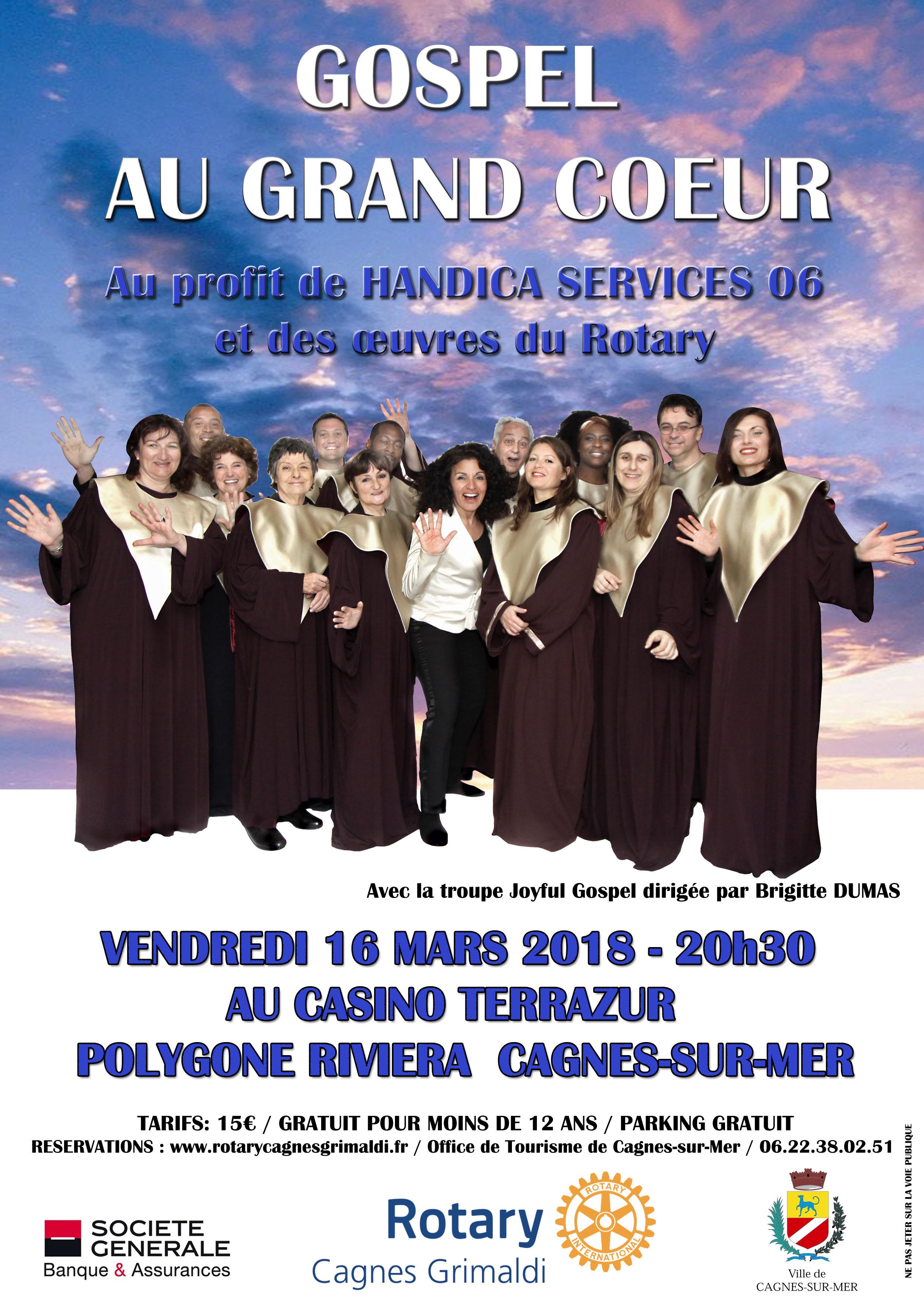 GOSPEL AU GRAND COEUR Actualité Cagnes-sur-Mer