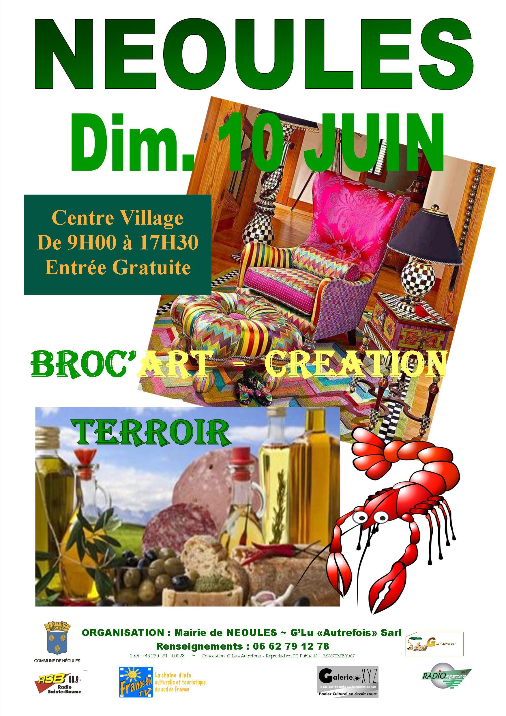 BROC'ART – CRÉATION & TERROIR  NÉOULES