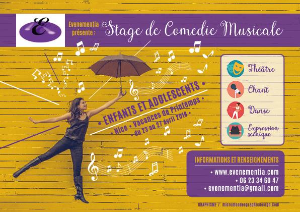 STAGE DE COMÉDIE MUSICALE - PÂQUES 2018 NICE