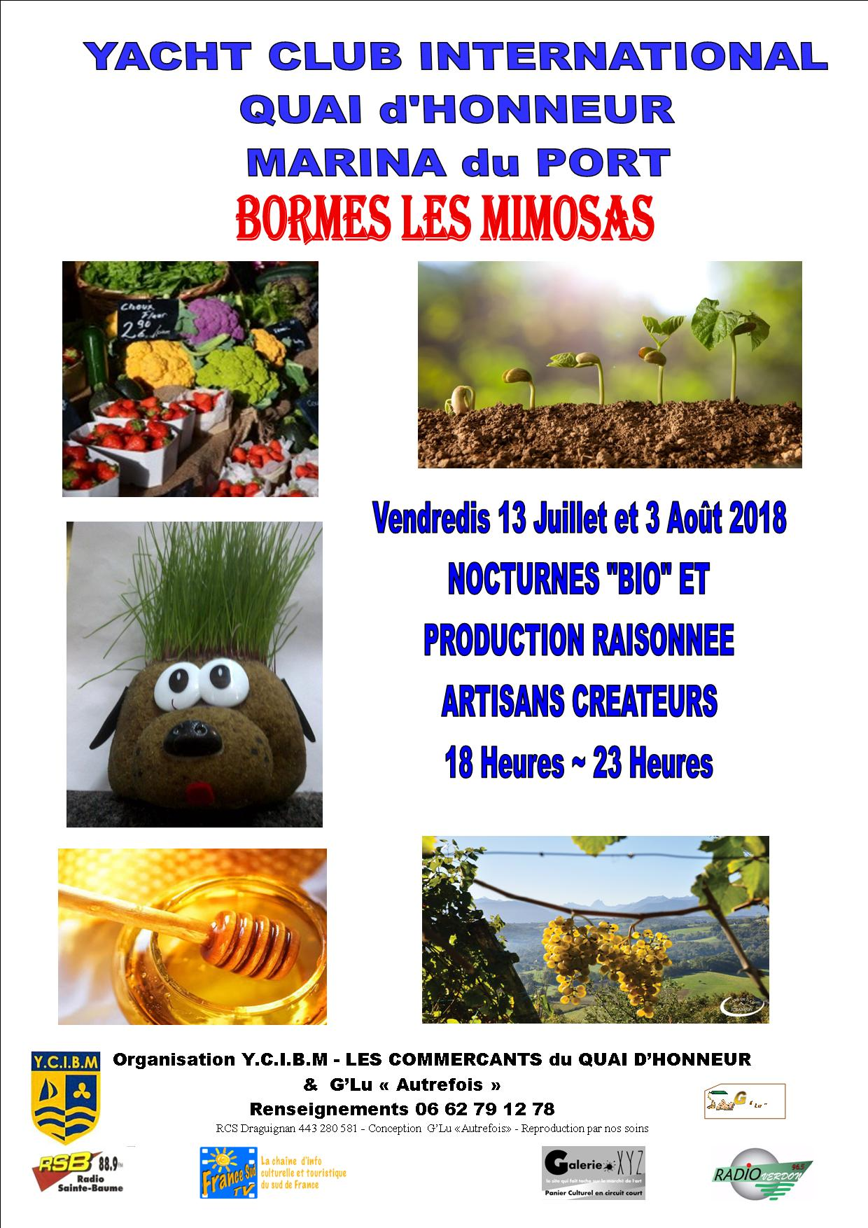 MARCHE NOCTURNE BIO NATURE PRODUCTEURS BORMES LES MIMOSAS