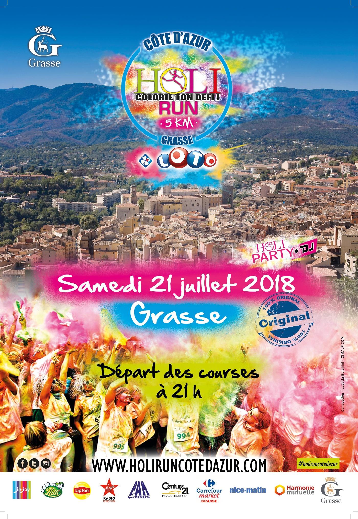 Holi Run Côte d'Azur Actualité Grasse