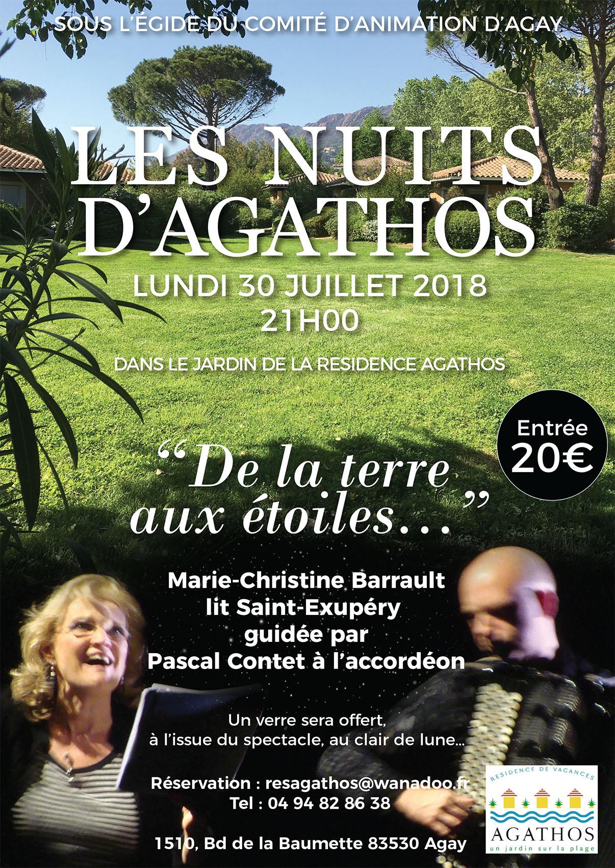 CONCERT - DE LA TERRE AUX ÉTOILES  AGAY