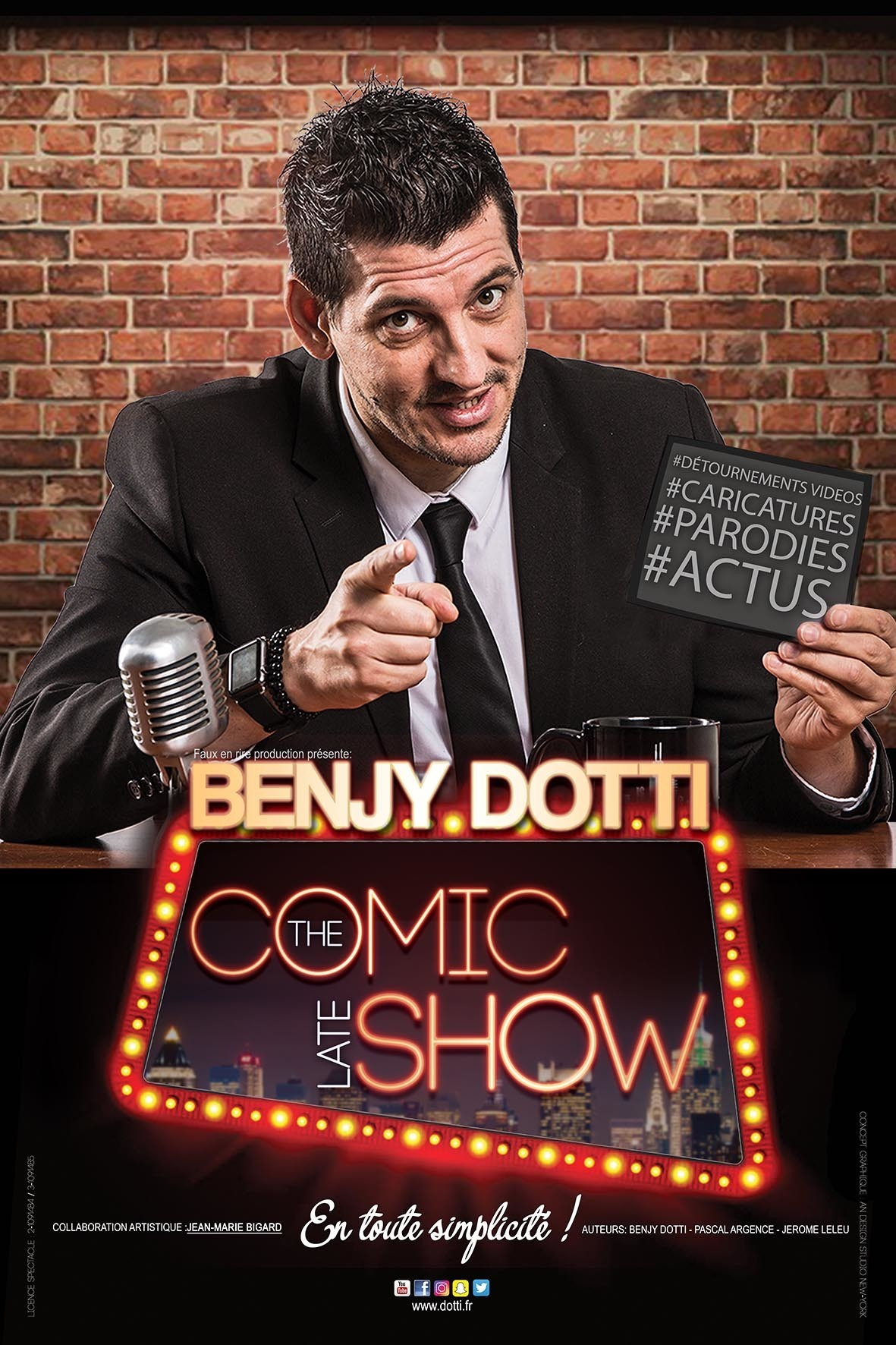 BENJY DOTTI - THE COMIC LATE SHOW SIX FOURS LES PLAGES