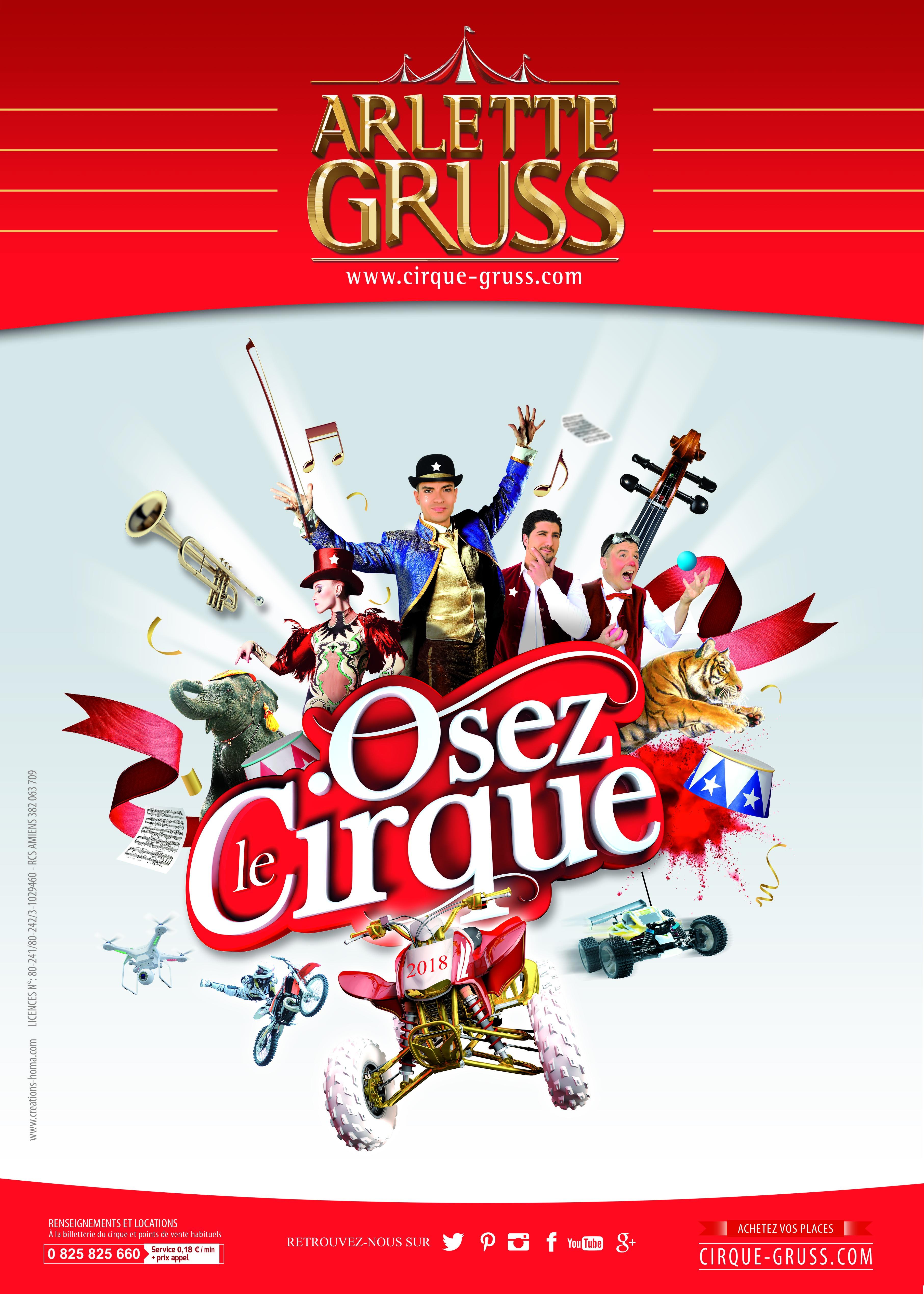 """ARLETTE GRUSS 2018 """"OSEZ LE CIRQUE"""" VALBONNE"""