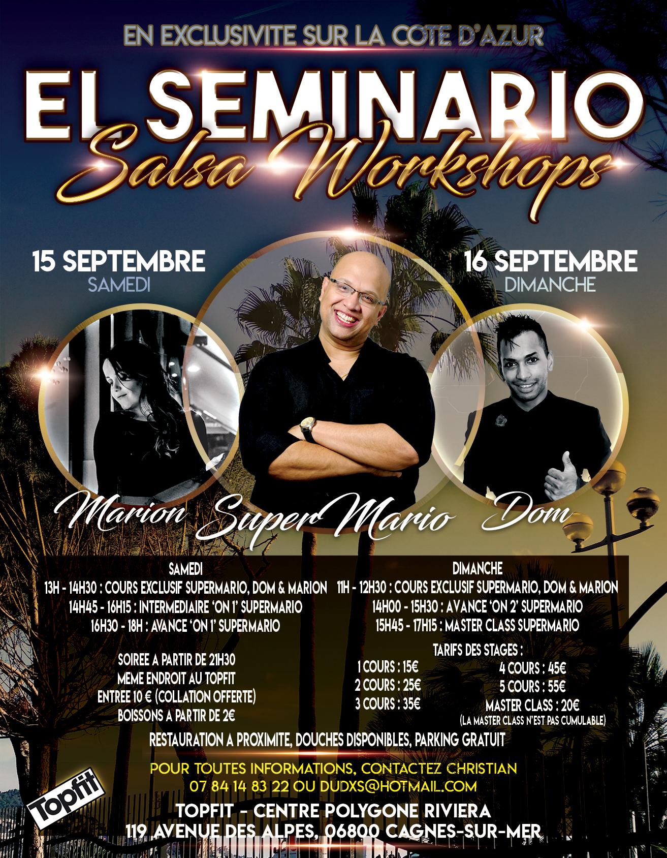 EL SEMINARIO - STAGE DE SALSA CAGNES SUR MER