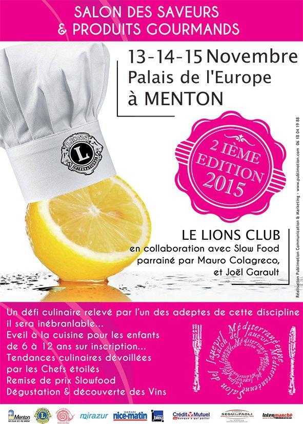 Salon des saveurs menton report en 2017 menton for Salon gastronomie 2017