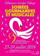 SOIRÉES GOURMANDES ET MUSICALES VILLENEUVE LOUBET