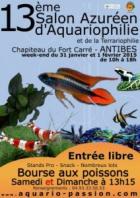 13ÉME SALON AZURÉEN DE L'AQUARIOPHILE ANTIBES JUAN LES PINS