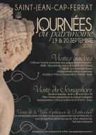 JOURNÉES EUROPÉENNES DU PATRIMOINE SAINT JEAN CAP FERRAT