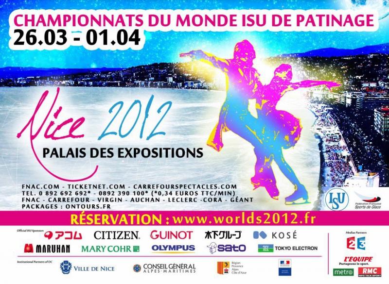 Nice 2012 championnats du monde de patinage artistique for Championnat du monde de boules carrees