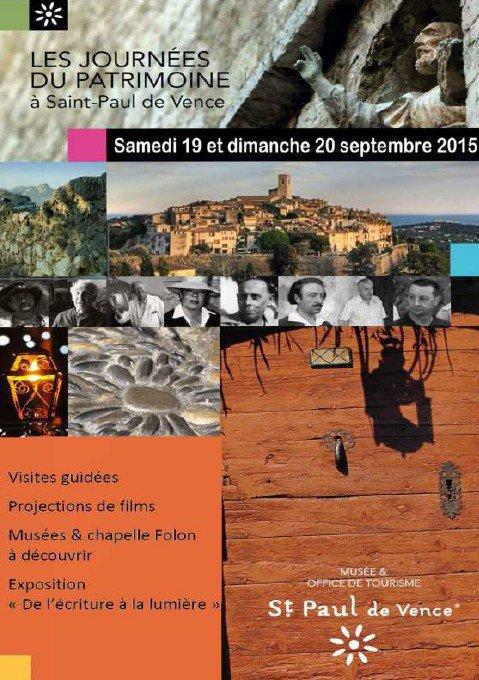Journ es europ ennes du patrimoine - Office du tourisme saint paul de vence ...