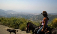 On horseback above Nice