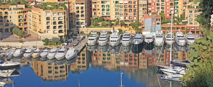 port de fontvieille, marina at monaco