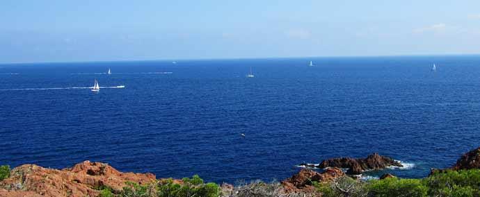 Le bleu de la mer, du ciel ! C'est beau !